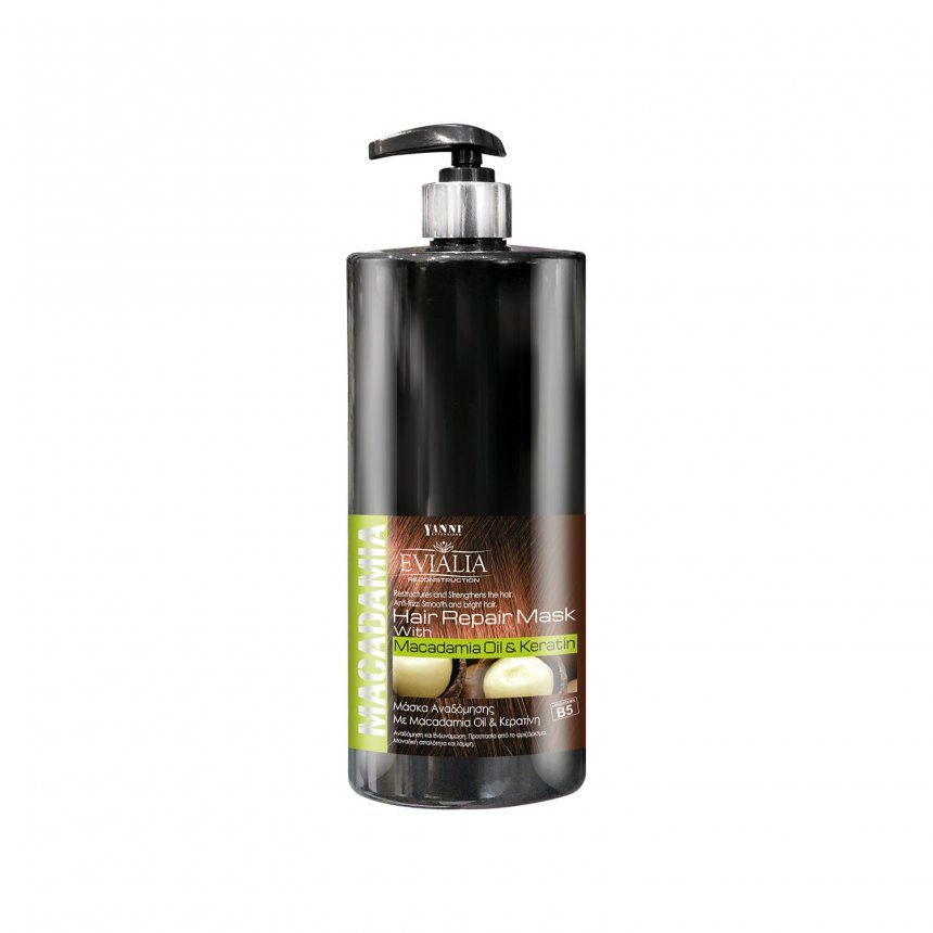 Evialia Macadamia Oil & Keratin Hair Mask - Pump - 1lt
