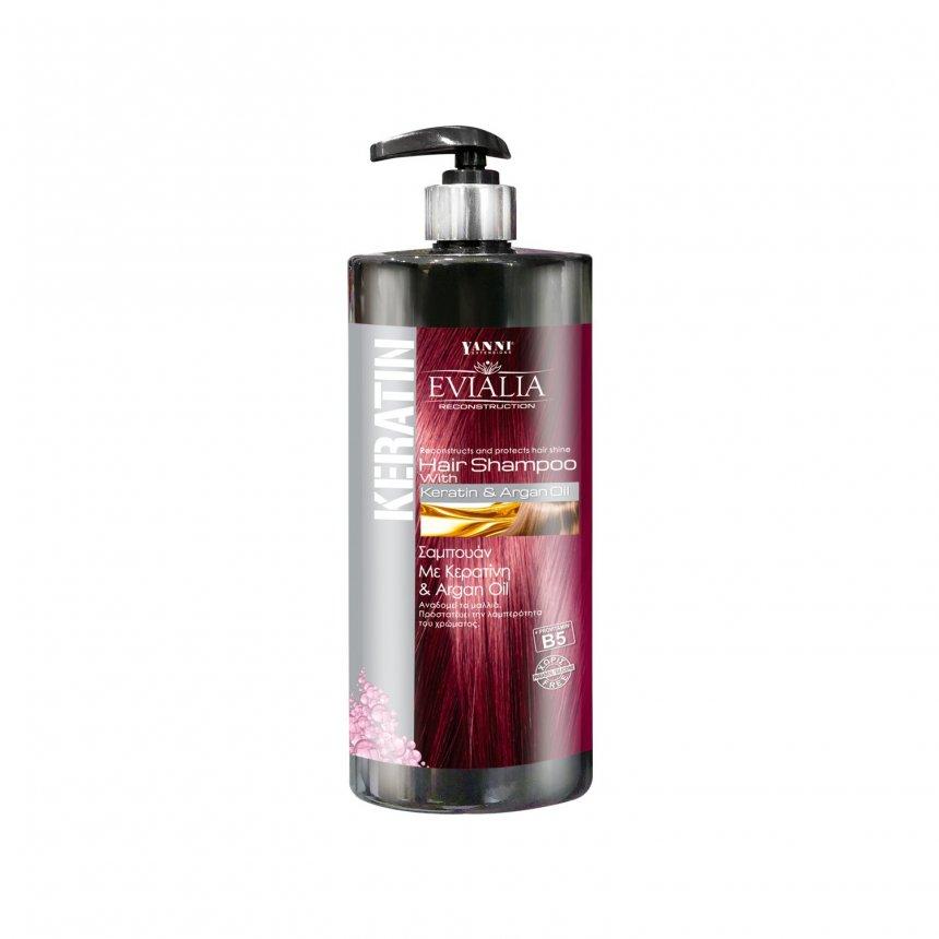 Σαμπουάν Κερατίνης Με Argan Oil Evialia - 1 Λίτρο