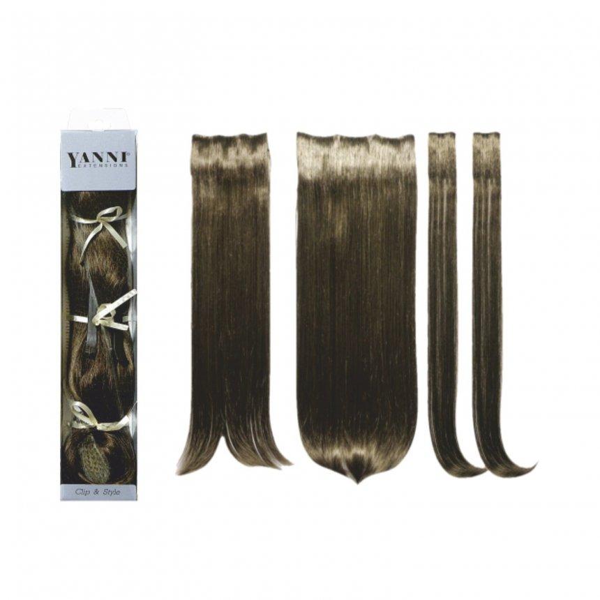 ΣΕΤ Extensions Συνθετικό Ίσιο Σκούρο Ξανθό 55cm