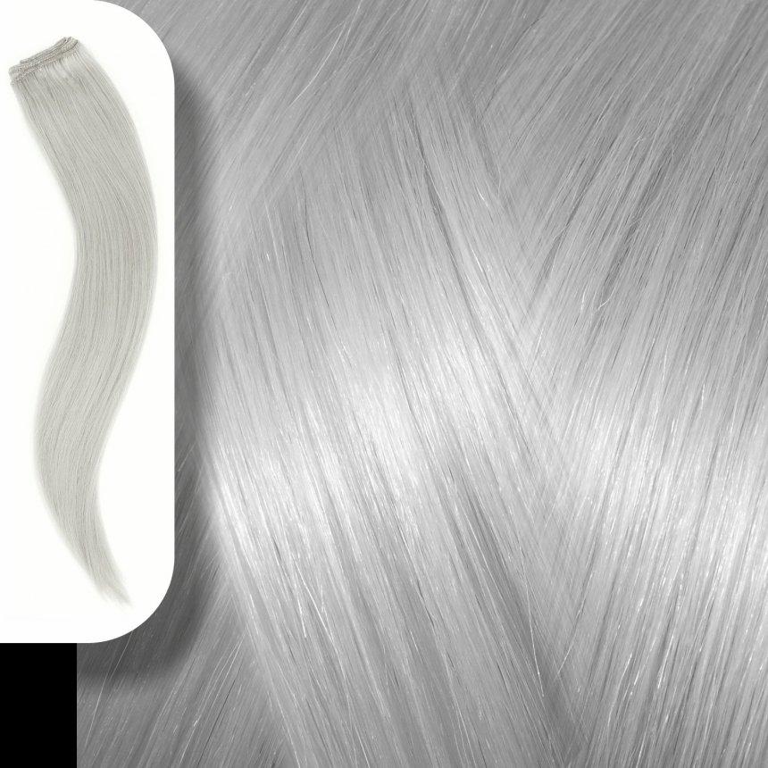Τρέσα Φυσική Τρίχα Ασημί / Silver - 120*50cm